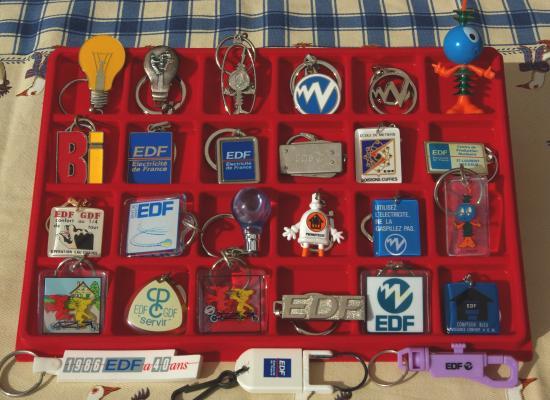 Collection porte cl s edf de jimmy for Collection de porte clefs